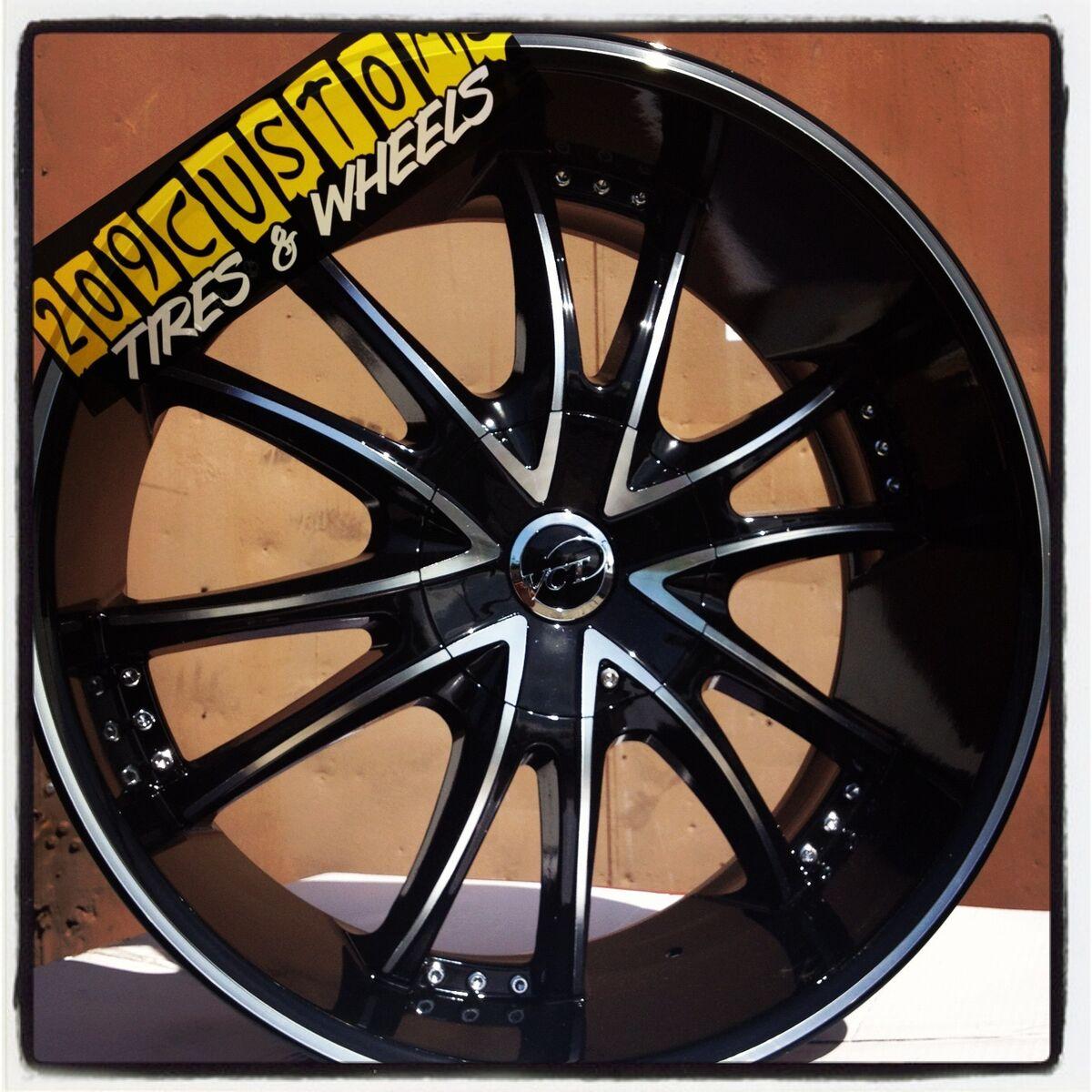 """22 inch 22"""" Bossini VCT Black Wheels Rims Tires 5x115 Chrysler 300 2010 2011"""