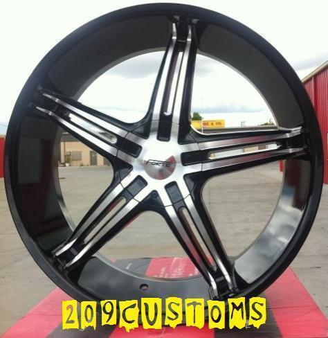 FWD Forte Wheels Rims Tires Black FW56 5x115 Cadillac STS 2011