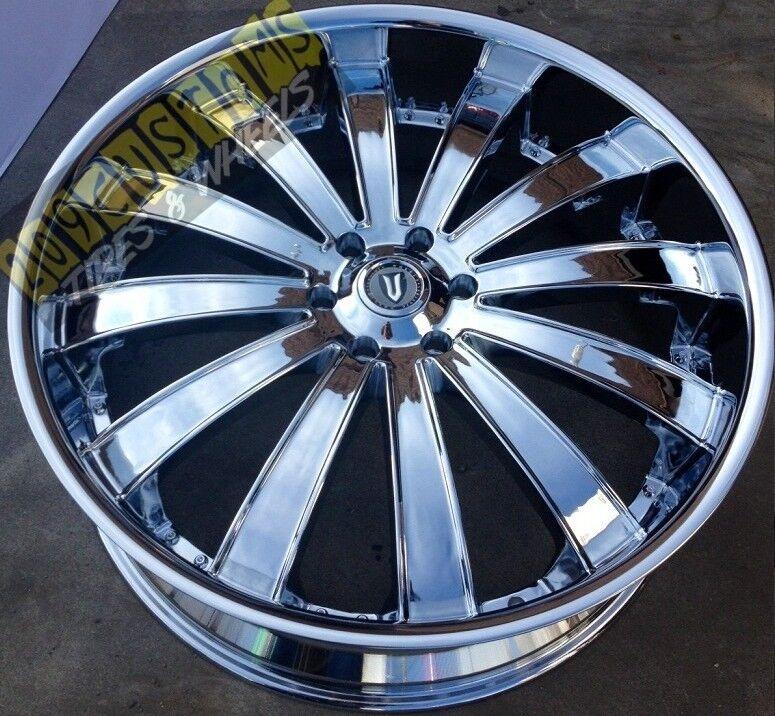 22 inch Versante Rims Wheels Tires VW225 5x115 22x9 5 Chrome Dodge