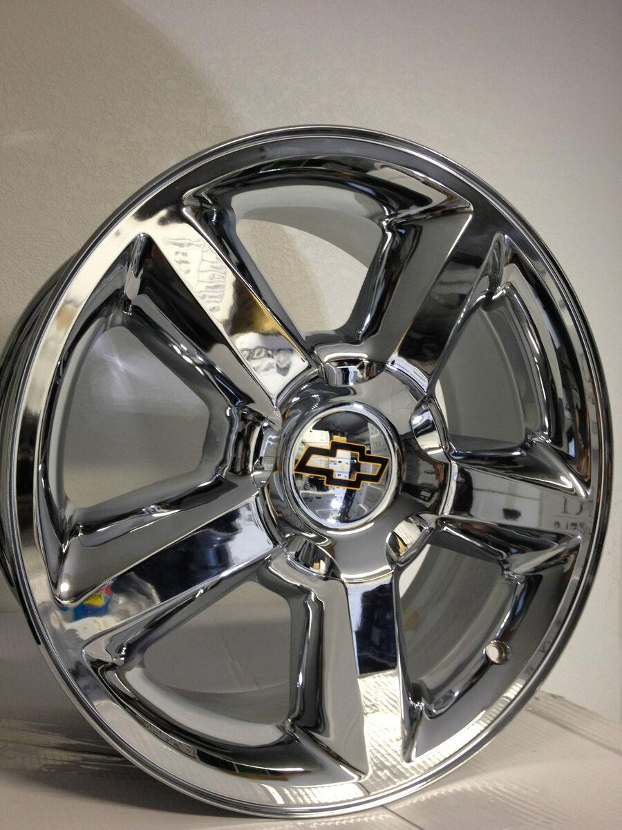 22 inch Chrome Chevrolet Tahoe Silverado Suburban LTZ Factory OE Wheels 22x10