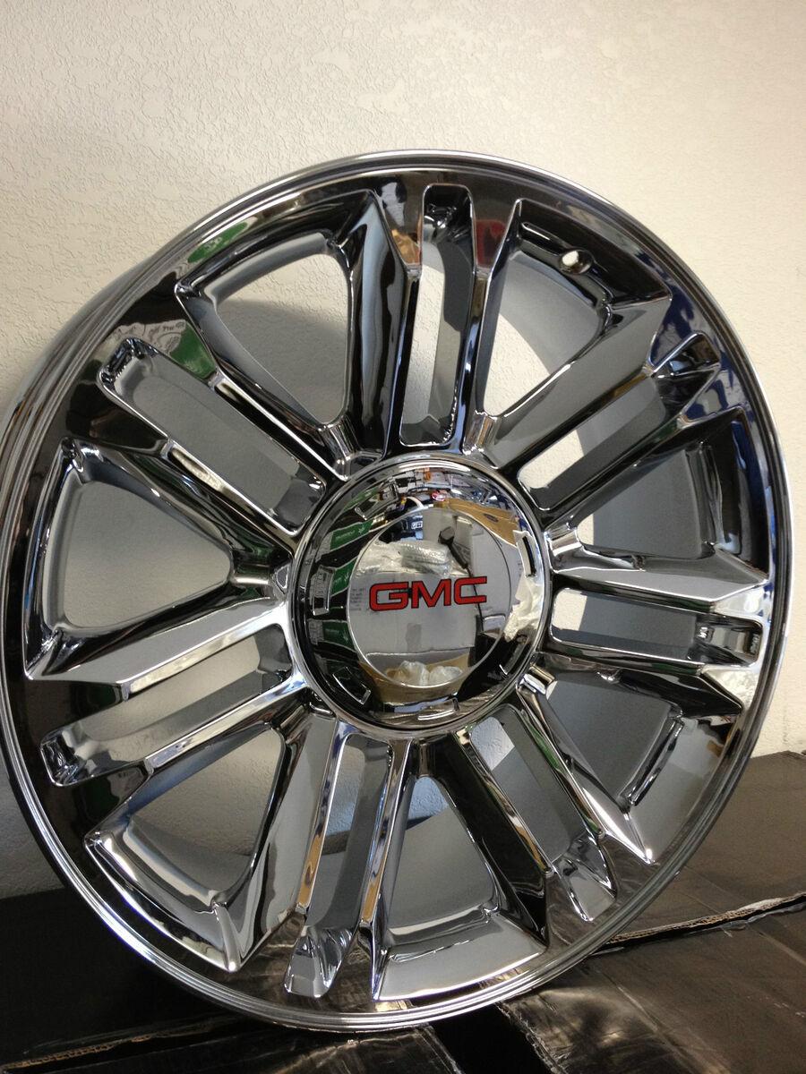 Chrome GM Escalade Platinum Factory Wheels GMC Sierra Yukon Denali +15