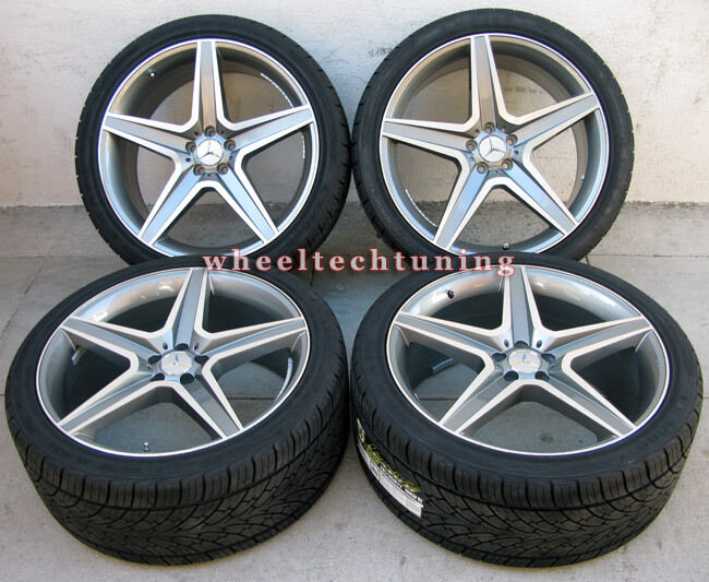 Benz wheel and tire package rims fit mbz gl350 gl450 and gl550 for Rims and tires for mercedes benz