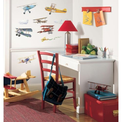 22 New VINTAGE AIRPLANES WALL DECALS Planes Stickers Boys Room Decor Decorations in Home & Garden, Home Decor, Decals, Stickers & Vinyl Art | eBay