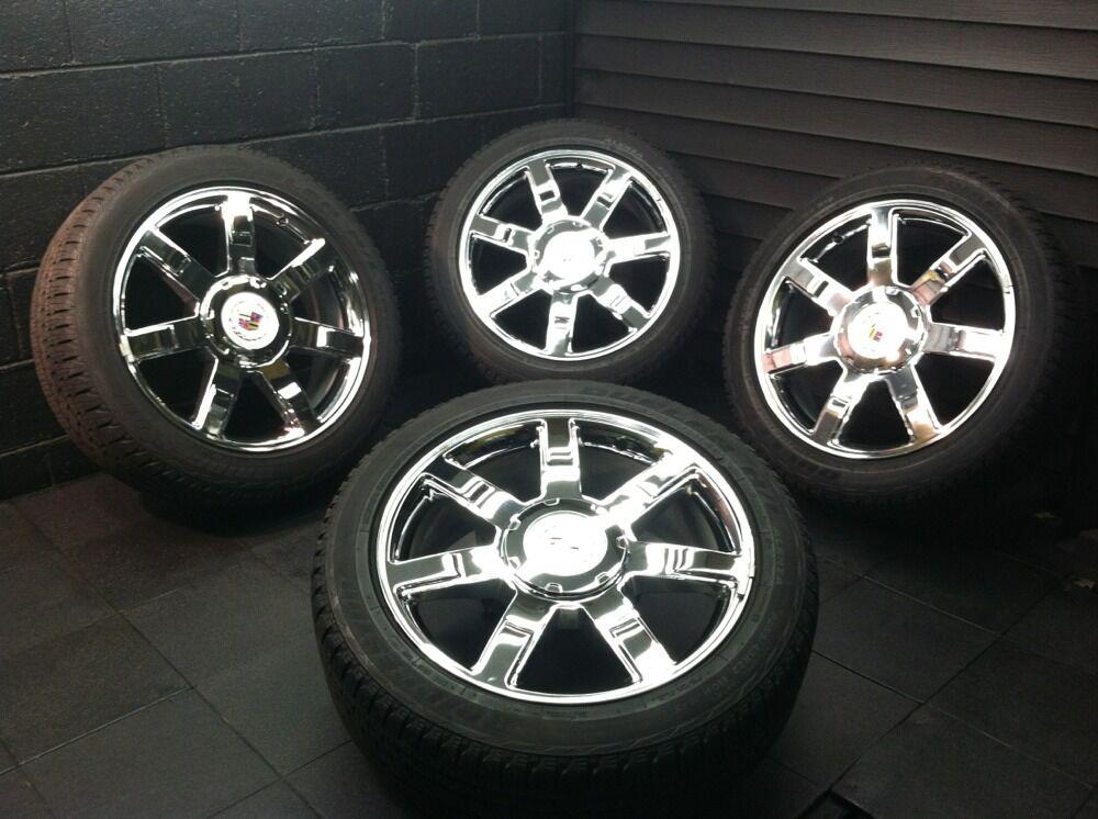 Factory Cadillac Escalade 2007 11 Chrome Wheels Rims Tires 5309