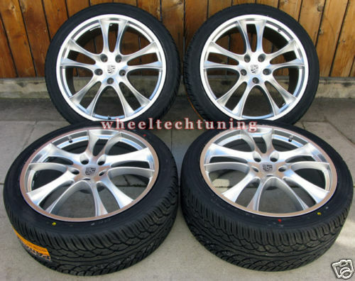CAYENNE GTS STYLE WHEEL AND TIRE PACKAGE   SILVER WHEELS/RIMS TIRES
