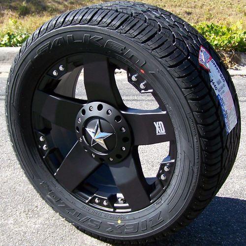 """22"""" XD Rockstar Wheels Falken STZ 04 Tire 6x5 5 Tahoe"""