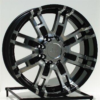 22 inch Black Wheels Rims Chevy Dodge RAM 2500 3500 8 Lug Hummer H2 8x6 5