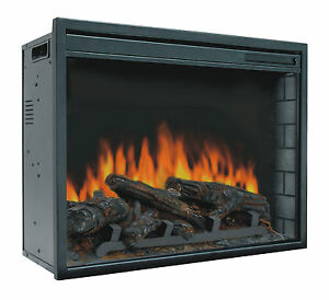 23 034 electric firebox insert with fan heater and glowing
