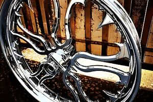 Custom Bagger 23' Wheels http://www.ebay.com/itm/23-inch-custom-Motorcycle-wheel-for-Harley-Davidson-Bagger-CHROME-NEW-/110950478729