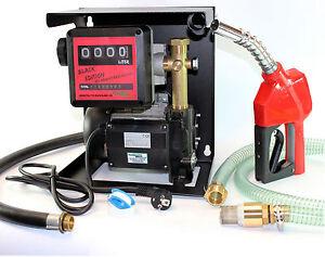 230-Volt-Pumpe-Dieselpumpen-Heizoelpumpe-Black-Edition-Magnetabscheider-Zaehlwerk