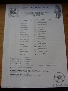 24-08-1996-Teamsheet-Darlington-v-Swansea-City-Folded-Item-In-very-good-cond