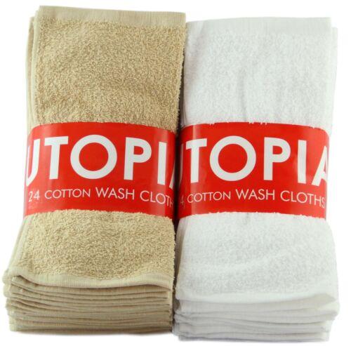 24 (2 DOZEN) 100% COTTON HOTEL WASHCLOTHS 12 X 12 INCHES SOFT & ABSORBENT in Home & Garden, Bath, Towels & Washcloths | eBay