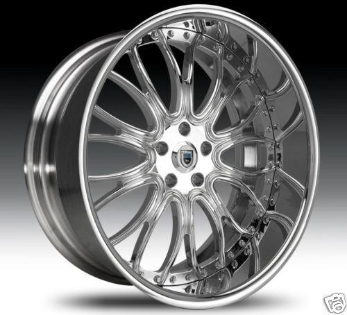 """24"""" asanti 24 inch AF145 AF 145 Chrome Multi Piece 5 6 Lug Rims Wheels Tires"""