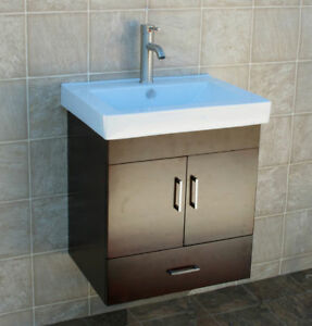 details about 24 bathroom wall mount vanity cabinet ceramic sink w1