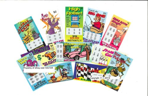 """24 FaKe GaG JoKe PrAnK LoTTo LoTTeRy TiCkEtS """"Worlds Best Practical Joke"""" $7.49 in Home & Garden, Holidays, Cards & Party Supply, Party Supplies 