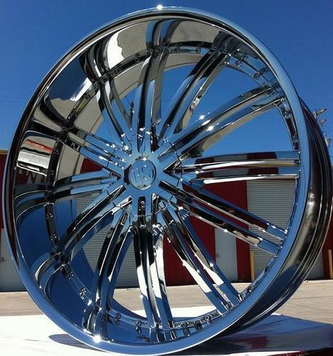 24 inch Wheels and Tires RSW 99 Chrome Ford F150 Navigator Expedition Lincoln