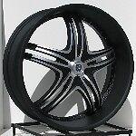 24 inch Black Rims Wheels Chevy Truck Silverado Tahoe GMC Sierra Yukon 6 Lug 5 5