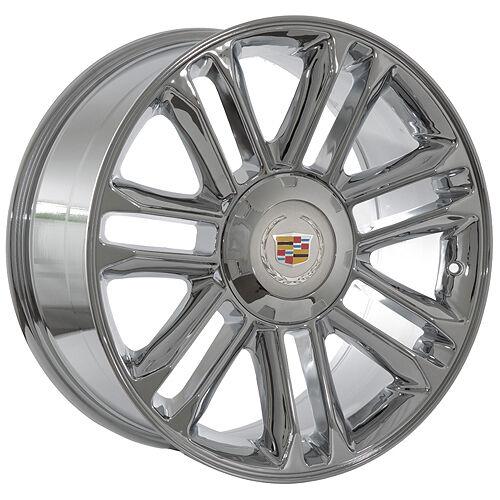 "24"" inch Cadillac Escalade Platinum Chrome Wheels Rims"