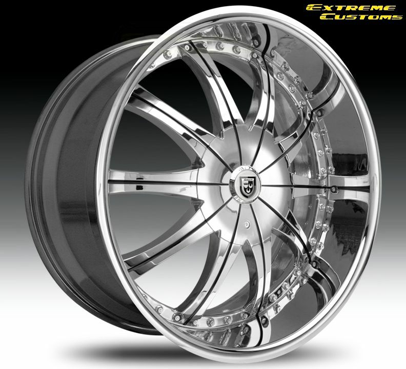 24 Inch Lexani CS 2 Land Range Rover Chrysler 300 or C AWD Wheels Rims