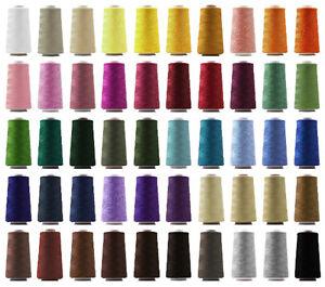 24-Konen-Overlock-Naehgarn-40-2-2743m-3000Y-Staerke-100-Garn-freie-Farbwahl