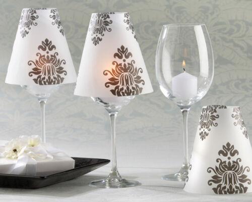 24 NEW Black White Damask Vellum Wine Shades Wedding Decorations Favors in Home & Garden, Wedding Supplies, Decorations | eBay