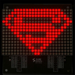 24-X16-2416-Red-LED-3mm-Dot-Matrix-Display-Information-Display-Board