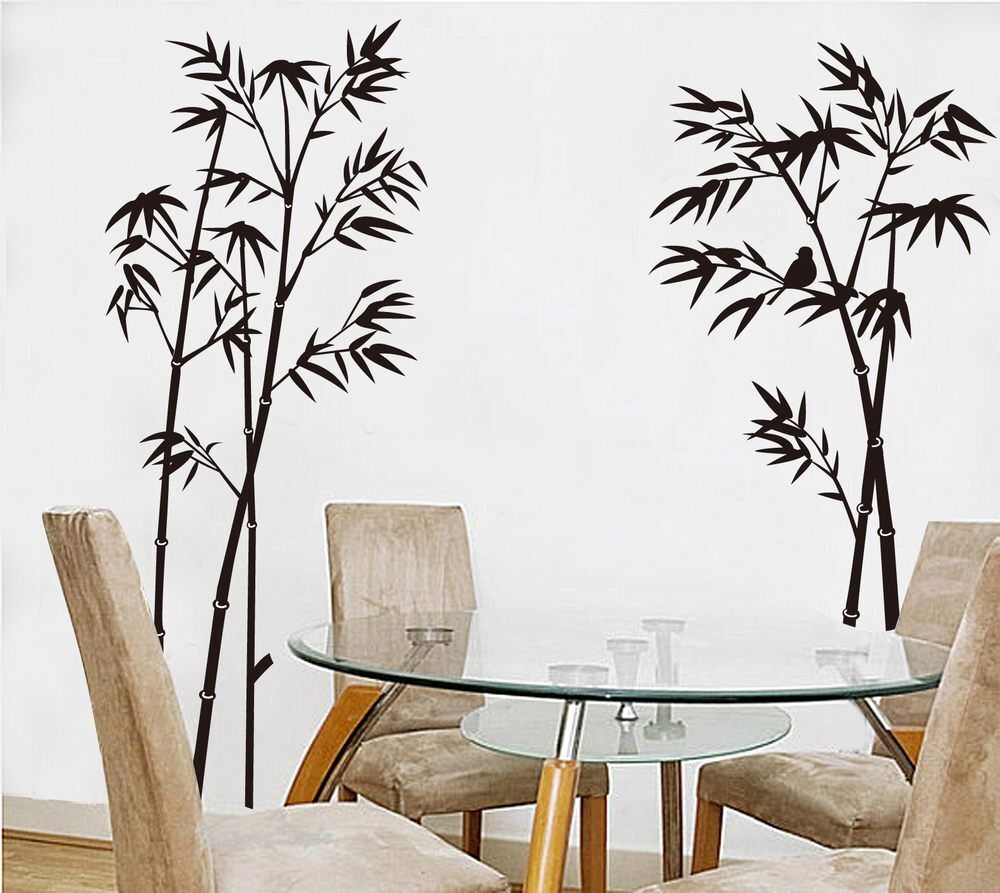 """24""""x 35"""" Bamboo Removable Vinyl Wall Stickers Decals Wallpaper Home Decor"""
