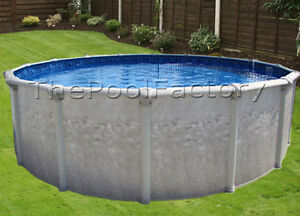 24ft round above ground swimming pool 52 034 wall height 40 year warranty ebay for A swimming pool is circular with a 40 ft diameter