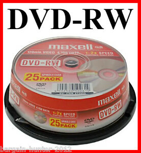 how to overwrite a rewritable dvd discs