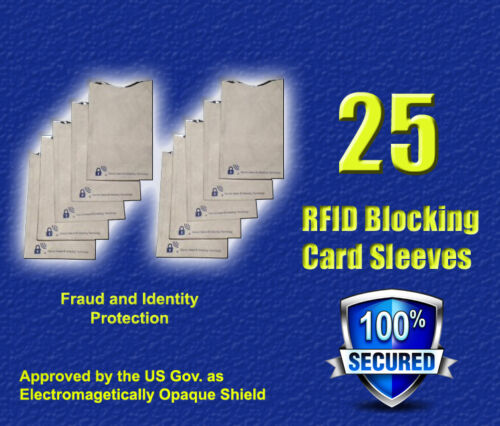 25 RFID Blocking Secure Credit Card Sleeve Protector Shields in Everything Else, Personal Security, Other | eBay