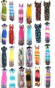 Cheap Maxi Dress on 25 Pcs Wholesale Maxi Dresses Beach Long Dress Bulk Cheap Ship From Us