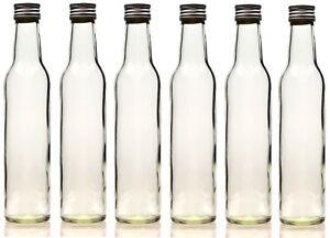 250 ml leere glasflaschen schnapsflasche lik rflaschen flasche 0 25 liter neu ebay. Black Bedroom Furniture Sets. Home Design Ideas