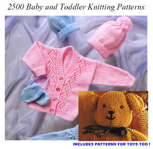 Baby-Childrens-Toddlers-KNITTING-PATTERNS-Hats-Blankets-Toys-FREE-P-P