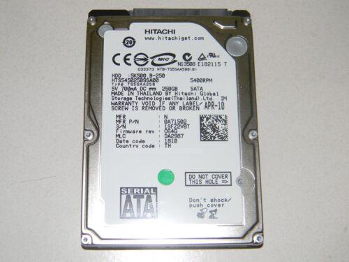 250GB SATA LAPTOP HARD DRIVE HITACHI TRAVELSTAR 5K500.B in Computers/Tablets & Networking, Drives, Storage & Blank Media, Hard Drives (HDD, SSD & NAS) | eBay