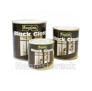 250ml 500ml Rustins Black Gloss Paint For Wood Metal Interior Exterior Oil Alkyd Ebay
