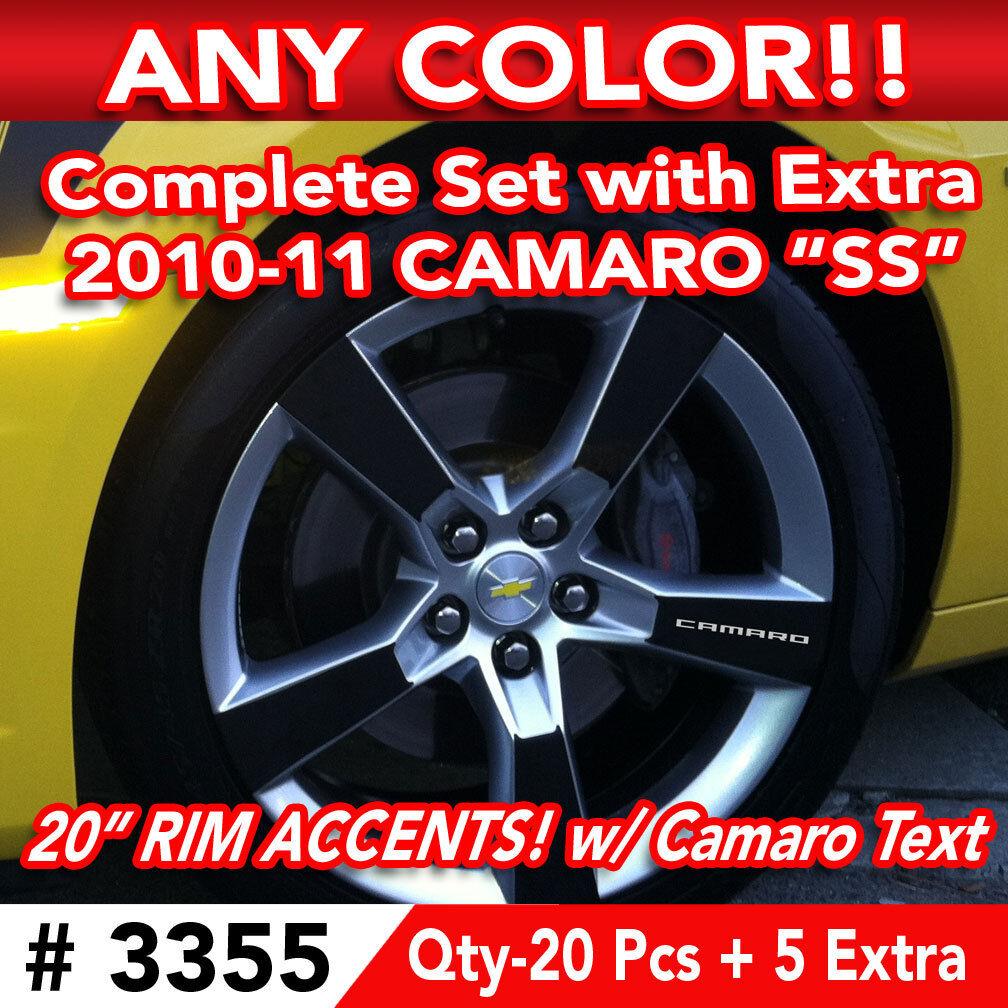25pc Set 2010 11 Chevy Camaro SS Wheel 20 Rim Accents Decal Sticker