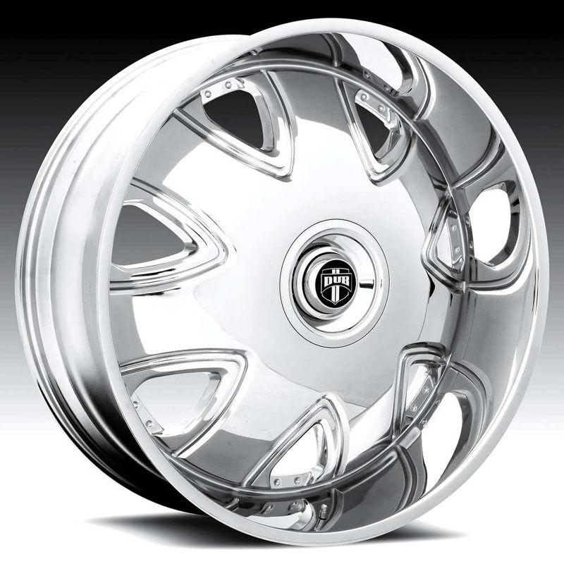 26 Dub 26 inch 26x9 5 Bandito Chrome Rims Wheels Tires Package Lugs