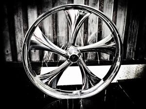 Harley Custom Wheels on 26  Inch Custom Motorcycle Wheel For Harley Bagger Touring Twisted