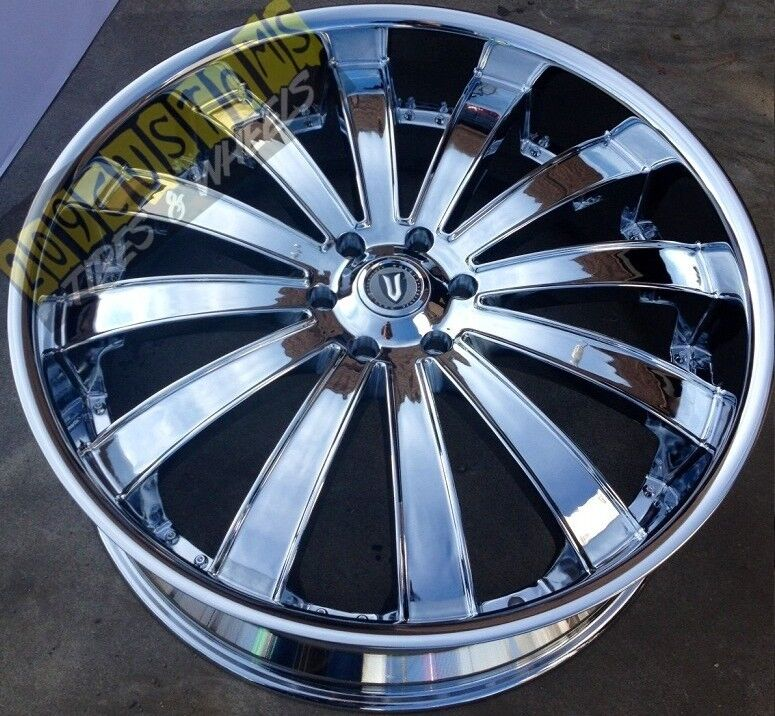 VERSANTE RIMS WHEELS TIRES VW225 5X150 CHROME TOYOTA SEQUOIA 2008 2009