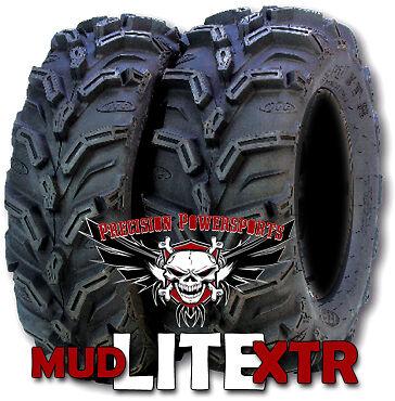 "26"" ITP Mud Lite XTR Tires on 12"" SS STI Wheels Kit ATV Honda Yamaha Polaris"