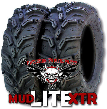 26 ITP Mud Lite XTR Tires w 12 SS STI Wheels Kit ATV
