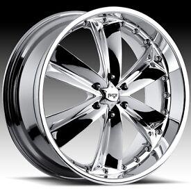 Rims on Shaz 6 Chrome Chevy Gmc 26inch 6 Lug 6x5 5 Rims Wheels Tires   Ebay