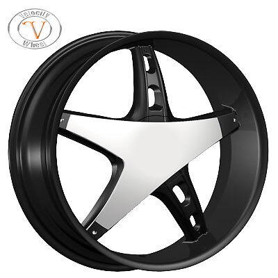 26 Velocity 930 Chrome Wheels Rims Tires Dodge Magnum Charger