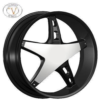 26 Velocity 930 Chrome Wheels Rims Tires Dodge Magnum Charger