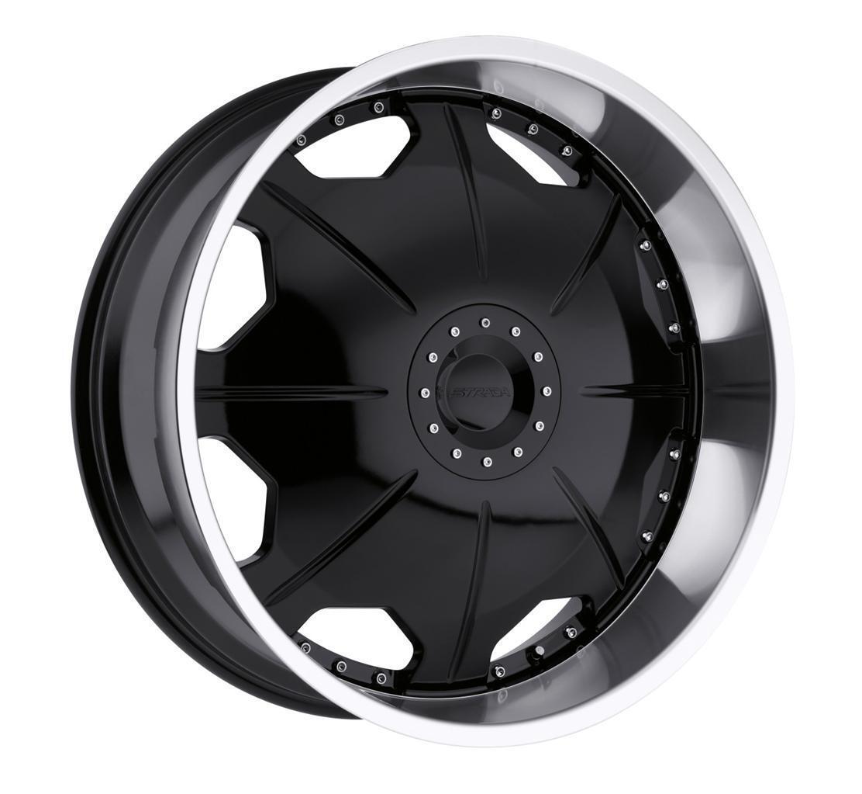 26 inch Strada Mirror Black Wheels Rims 6x5 5 Hummer H3 Chevy Tahoe GMC Yukon