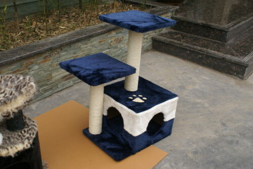 "27"" New Cat Tree Condo Furniture Scratcher Blue in Pet Supplies, Cat Supplies, Furniture & Scratchers 