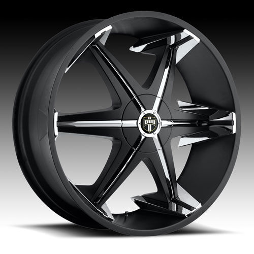 Dub 28x10 28 inch Big Homie with Shoes Black Rims Wheels Tires