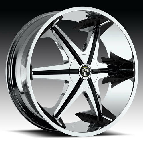 28 Dub Big Homie with Shooz Wheel Set 28x10 Chrome Rims rwd 5 6 Lug