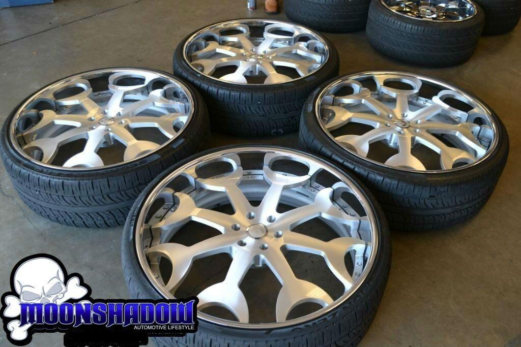 """28"""" Forgiato Capolavaro Cadillac Escalade Tahoe Denali Wheels Rims Pirelli Tires"""