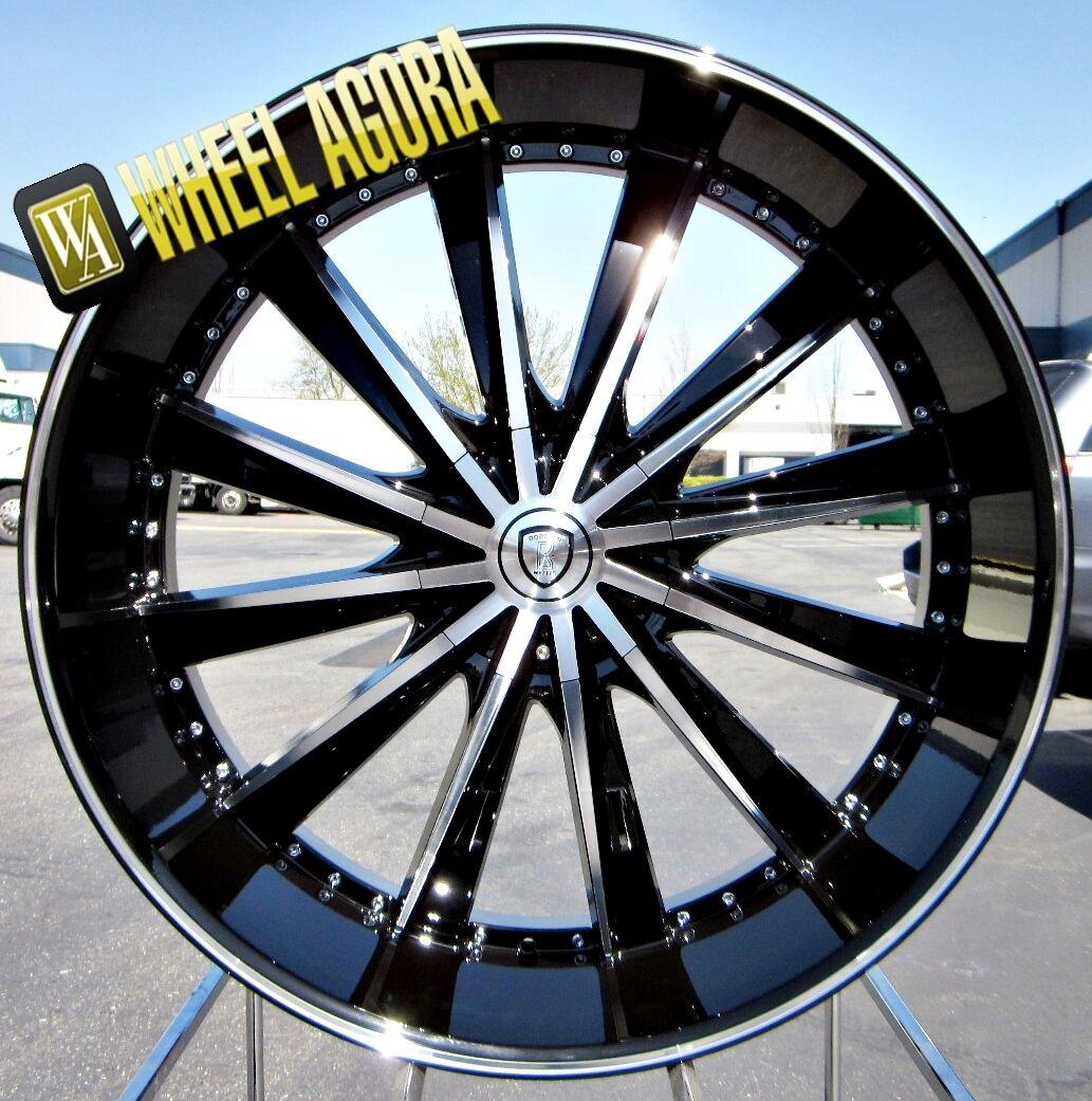 """28"""" inch Wheels Rims Tire Escalade Tahoe Suburban Denali Silverado 6x139 7 25"""